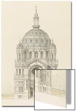 Eglise Saint-Augustin (Paris): Main Facade Elevation Posters by Victor Baltard