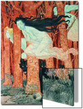 Three Women and Three Wolves (W/C) Posters by Eugene Grasset