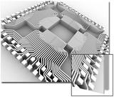 Microprocessor Chip, Computer Artwork Prints by  PASIEKA
