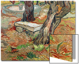 The Bench at Saint-Remy, c.1889 Art by Vincent van Gogh