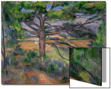 Large Pine Tree and Red Earth, 1890-1895 Affiches par Paul Cézanne