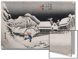 Night Snow, Kambara', from the Series 'The Fifty-Three Stations of the Tokaido' Posters by Ando Hiroshige