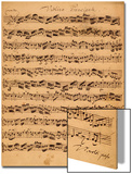 The Brandenburger Concertos, No.5 D-Dur, 1721 Prints by Johann Sebastian Bach
