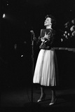 Entertainer Carol Burnett Singing a Comic Song About John Foster Dulles Who She Introduced, 1957 Photographic Print by Yale Joel