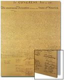 Declaration of Independence of the 13 United States of America of 1776, 1823 (Copper Engraving) Prints