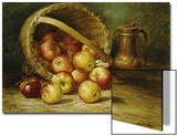 A Basket of Apples Prints by August Laux