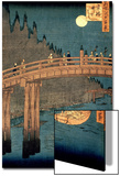 """Kyoto Bridge by Moonlight, from the Series """"100 Views of Famous Place in Edo,"""" Pub. 1855 Poster by Ando Hiroshige"""