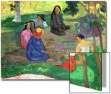 Les Parau Parau - paroles, paroles - ou les potins, 1891, Musée de l'Hermitage, St. Petersbourg Affiches par Paul Gauguin