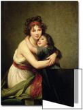 Madame Vigee-Lebrun and Her Daughter, Jeanne-Lucie-Louise (1780-1819) 1789 Kunstdruck von Elisabeth Louise Vigee-LeBrun
