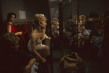Model Linda Olszewski Changes During an R&K Originals Inc Fashion Show, New York, New York, 1960 Photographic Print by Walter Sanders