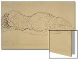 Reclining Woman, Seen from Behind Prints by Gustav Klimt