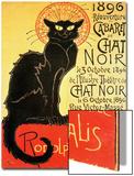 Reopening of the Chat Noir Cabaret, 1896 Plakater av Théophile Alexandre Steinlen