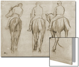 Jockeys Poster by Edgar Degas