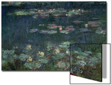 Waterlilies: Green Reflections, 1914-18 (Right Section) Poster di Claude Monet