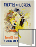 "Reproduction of a Poster Advertising the First ""Grand Bal Masque,"" Theatre De L'Opera, Paris, 1896 Print by Jules Chéret"