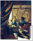 The Art of Painting (The Artist's Studio). About Um 1666/68 Print by Jan Vermeer