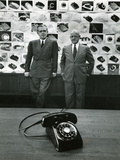 1949: Creators of New Telephone Stylist Henry Dreyfuss and Engineer and Bell Vp William H. Martin Photographic Print by Eric Schaal