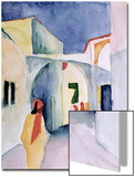 A Glance Down an Alley Poster by Auguste Macke