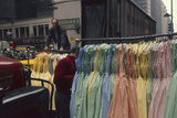 Push Boys Steer Racks of Dresses across Road in the Garment District, New York, New York, 1960 Photographic Print by Walter Sanders