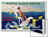 Poster Advertising Monte Carlo Beach, Printed by Draeger, Paris, C.1932 (Colour Litho) Posters by  Sem
