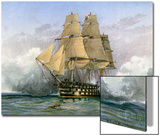HMS Victory, British Warship, C1890-C1893 Print by William Frederick Mitchell