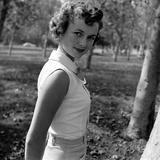 Portrait of American Actress Debbie Reynolds, 1950 Fotografisk tryk af Loomis Dean