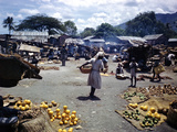 December 1946: Vendors at an Open Air Market at Petionville, Haiti Photographic Print by Eliot Elisofon