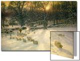 The Shortening Winter's Day Is Near a Close Kunstdruck von Joseph Farquharson