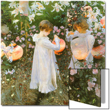 Chinese Lanterns, Girls, 1885 Posters by John Singer Sargent