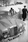 Students Getting in Car at Le Rosey School, Gstaad, Switzwerland, 1965 Photographic Print by Carlo Bavagnoli