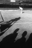 1971 Wimbledon: Tennis Player in Ready Position Photographic Print by Alfred Eisenstaedt