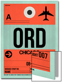 ORD Chicago Luggage Tag 2 Posters by  NaxArt
