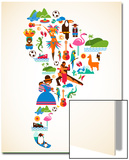 South America Love Poster by  Marish