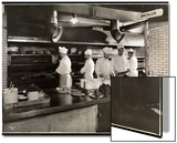 Cooks at the Broiler in the Kitchen of the Hotel Commodore, 1919 Print by  Byron Company
