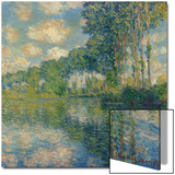 Poplars on the Epte Print by Claude Monet