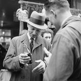 Parisians Drinking Bottled Coca Cola, Paris, France, 1950 Photographic Print by Mark Kauffman
