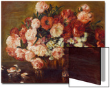 Still-Life with Peonies, 1872 Posters by Pierre-Auguste Renoir
