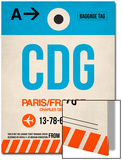 CDG Paris Luggage Tag 2 Posters by  NaxArt