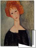 La testa rossa Stampa di Amedeo Modigliani