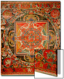 Thang-Ka Depicting a Mandala, Used as an Instrument of Meditation Art