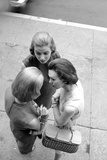 Three Women with Page Boy Hair Styles, New York, 1955 Photographic Print by Nina Leen