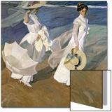 A Walk on the Beach, 1909 Art by Joaquín Sorolla y Bastida