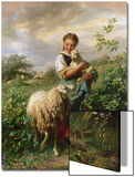 The Shepherdess, 1866 Art by Johann Baptist Hofner
