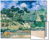 Staw-Roofed Houses Prints by Vincent van Gogh