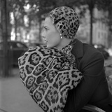 1949: Woman in Fur Fashion in New York City Photographic Print by Gordon Parks