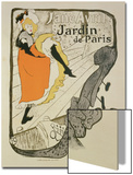 "Reproduction of a Poster Advertising ""Jane Avril"" at the Jardin De Paris, 1893 Art by Henri de Toulouse-Lautrec"