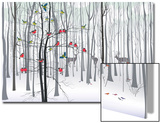 Christmas Tree in the Forest Prints by  Milovelen