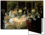The End of Dinner, 1913 Posters by Jules-Alexandre Grün