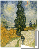 Road with Cypresses, c.1890 Art by Vincent van Gogh