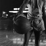Basketball Held by Player Wilt Chamberlain, 1956 Photographic Print by Frank Scherschel